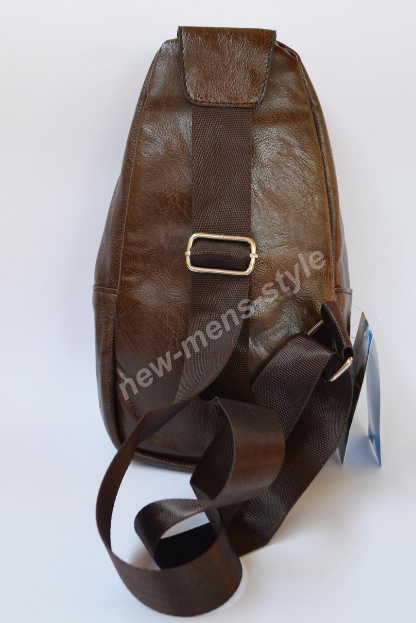 b7395b8c6294 ... Мужская чоловіча спортивная кожаная сумка слинг рюкзак бананка Jeep,  фото 8. В наличии
