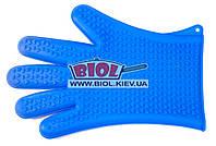 Силиконовая рукавица (перчатка) 27см синего цвета Empire EM-7137-3