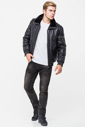 Мужская зимняя куртка из кожвинила T-TK, фото 2
