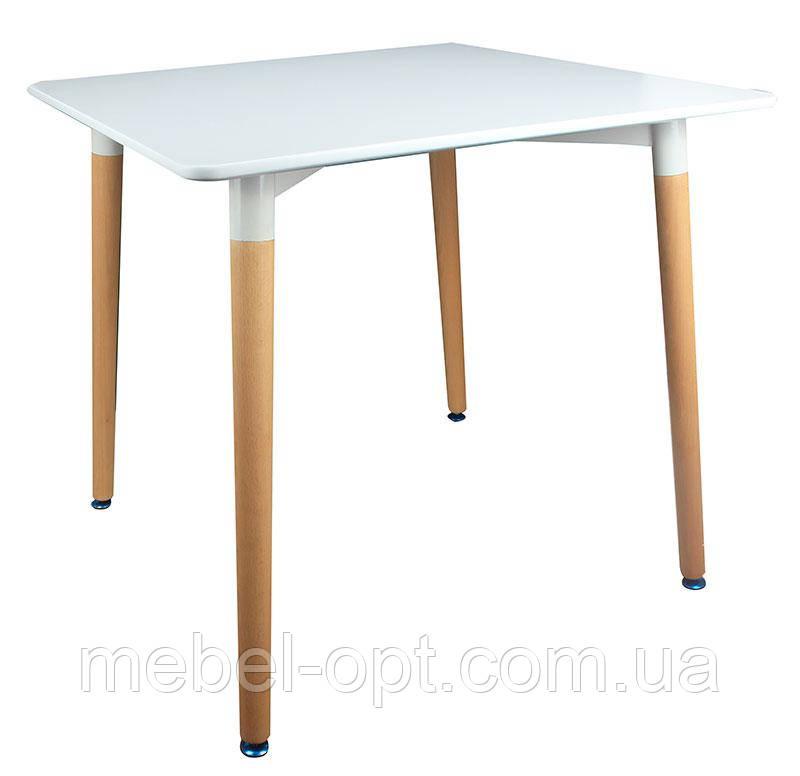 Обеденный квадратный стол Verdi белый, 80х80х74,5 H реплика на Mario Cellini Halo Dining Table