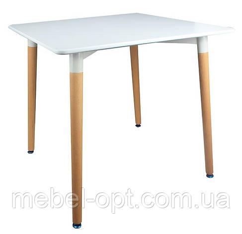 Обеденный квадратный стол Verdi белый, 80х80х74,5 H реплика на Mario Cellini Halo Dining Table, фото 2