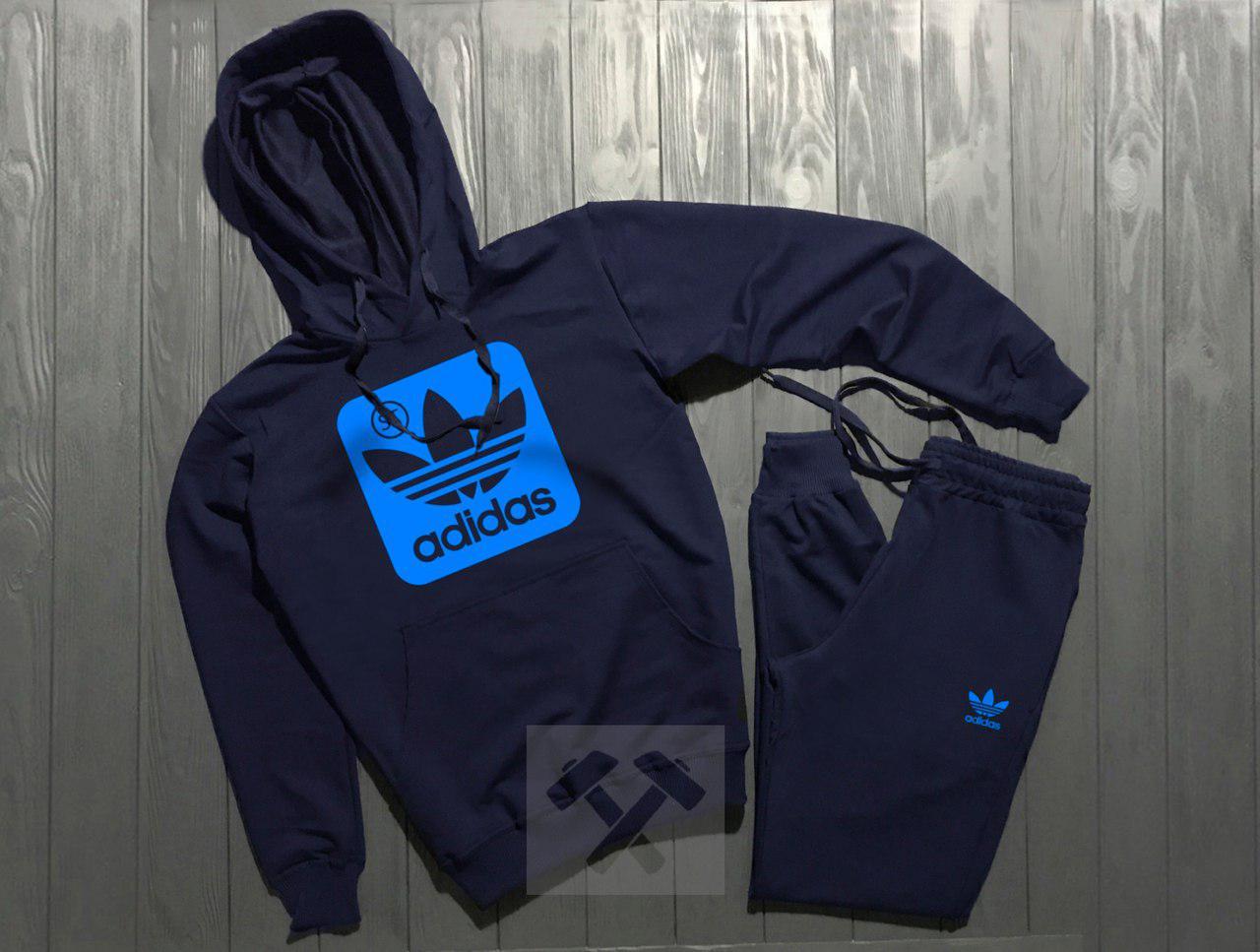Спортивный костюм Adidas темно-синий топ реплика