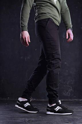 Штаны мужские чиносы Bronson черные, фото 2