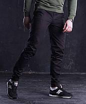 Штаны мужские чиносы Bronson черные, фото 3