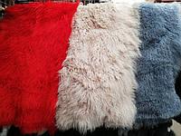 Натуральная шкура ламы цвет красный,бежевый и синий размер 120×60 см