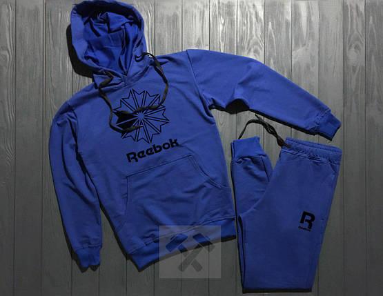 Спортивный костюм Reebok синий топ реплика, фото 2