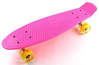 Penny Boarde Pink Светящиеся желтые  колеса Гарантия качества Быстрая доставка