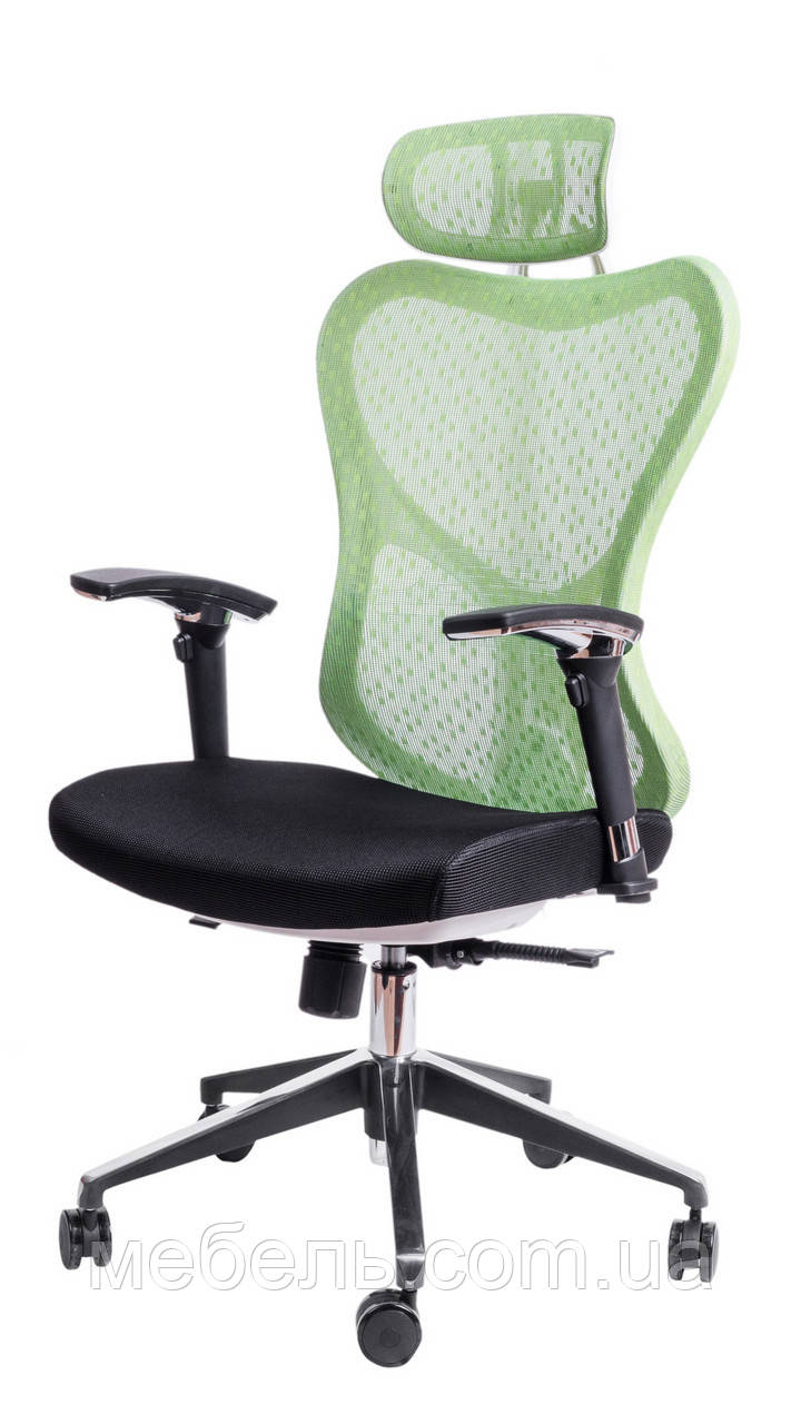 Детское компьютерное кресло Barsky Butterfly White Fly-04 green