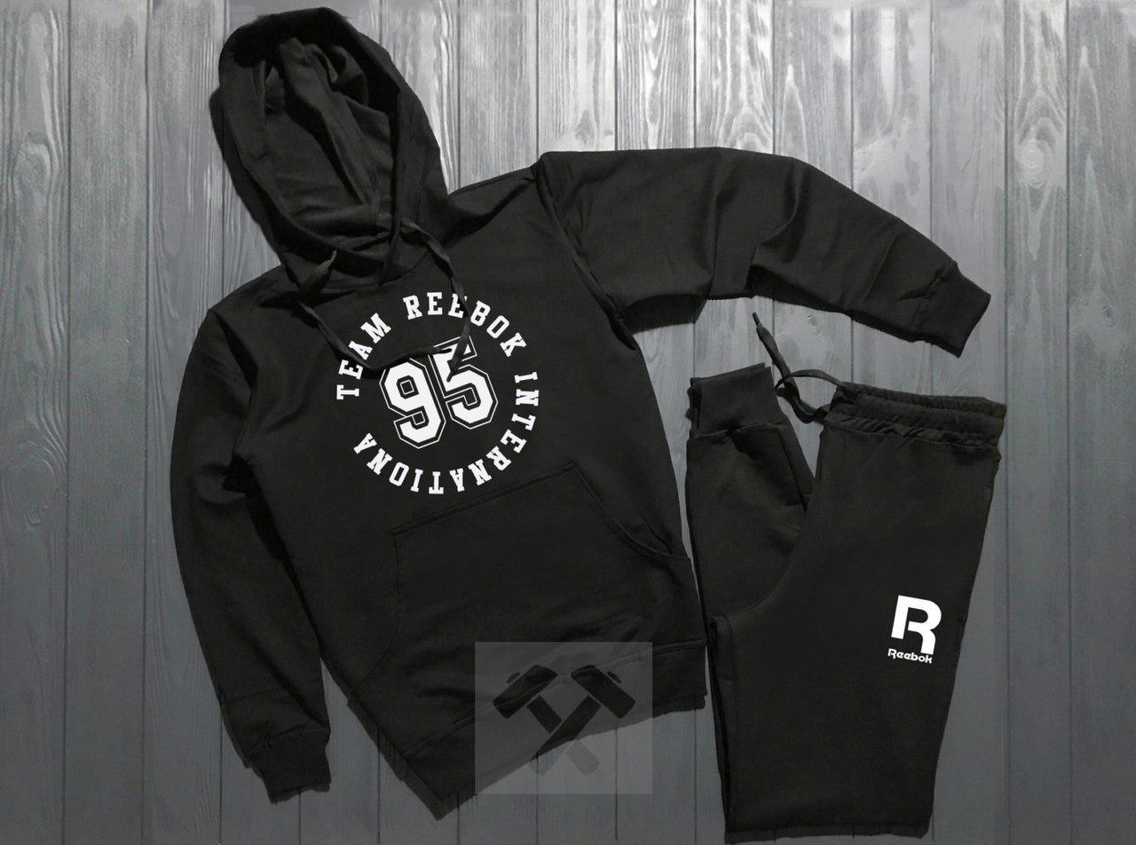Спортивный костюм Reebok черный топ реплика