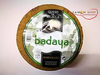 Сыр из трех видов молока Badaya (Семикурадо) (овечье, козье, коровье молоко), Испания, 3+ кг.