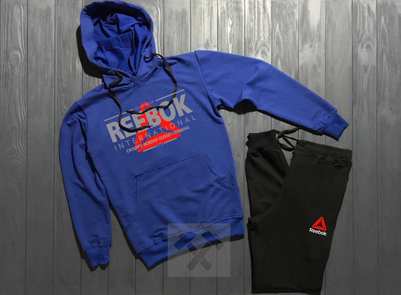 Спортивный костюм Reebok сине-черный топ реплика