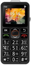 Кнопковий телефон 2E T180 Single Sim Black (708744071125)