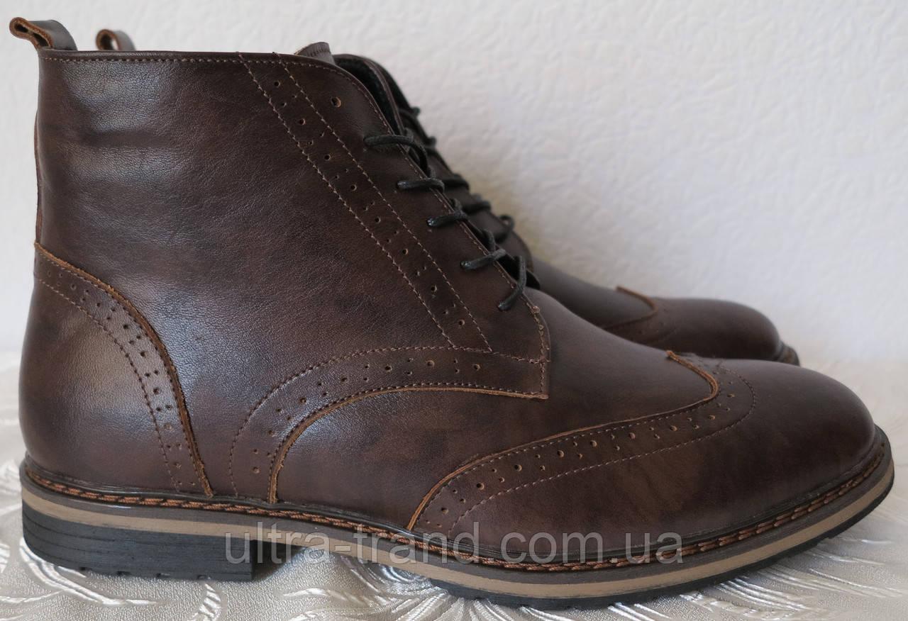 TODS реплика! мужские броги оксфорд на шнуровке натуральная кожа ботинки  зима b4fc6eef34fc9