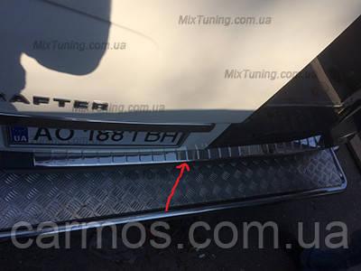Накладка на задний бампер Mercedes sprinter 906 (мерседес спринтер 906), OMSALINE нерж.