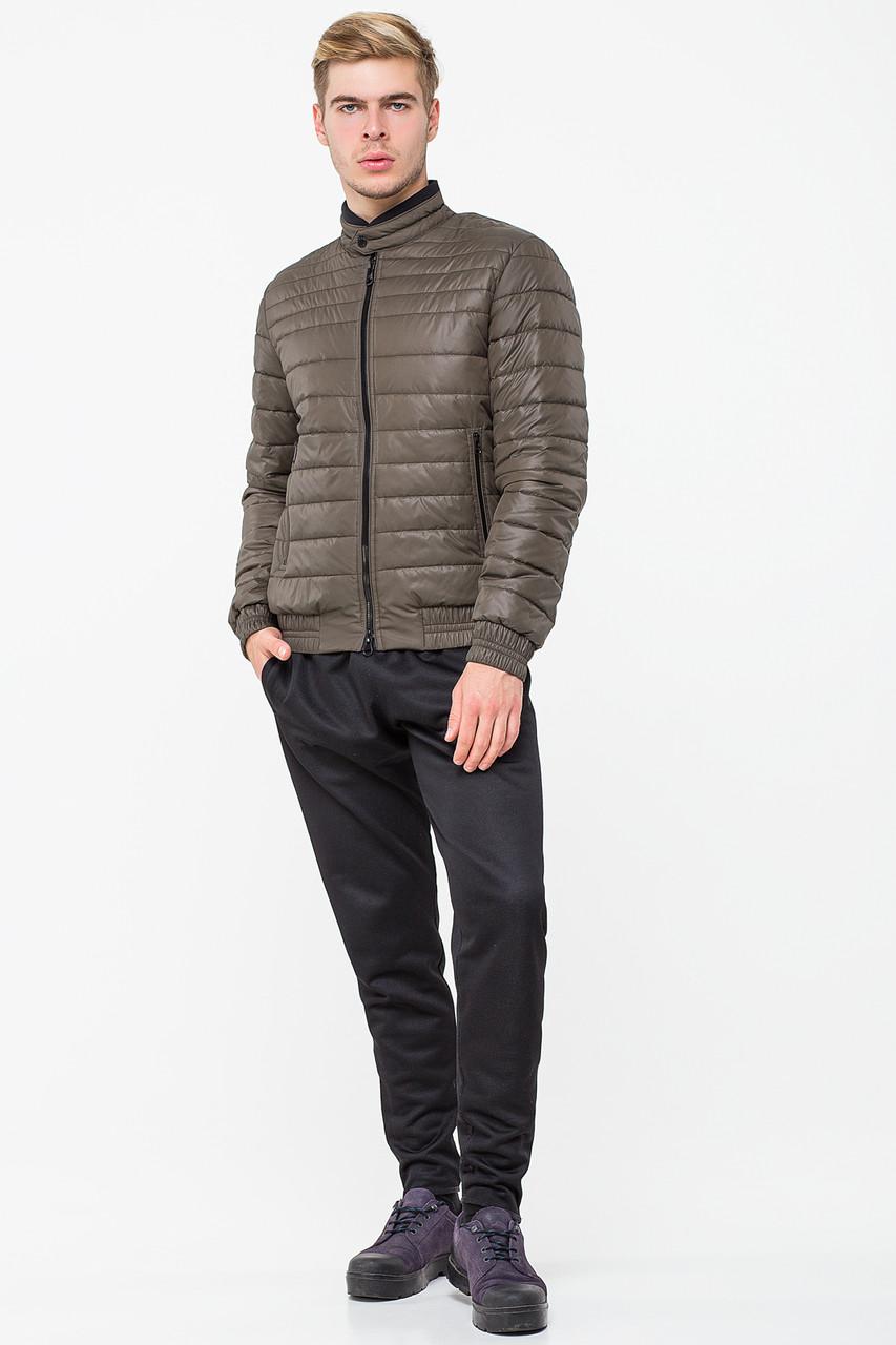 Мужская демисезонная курточка T-132 цвета хаки (#373)