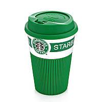 Термокружка Starbucks Старбакс керамическая, цвет - зеленый, с доставкой по Киеву и Украине