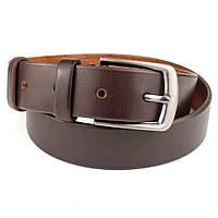 Ремень мужской кожаный KB-35 brown (3,5 см)