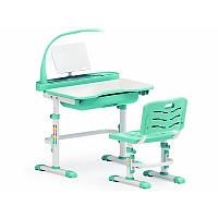 Комплект парта и стульчик Evo-kids Evo-17 (с лампой) зеленая, фото 1