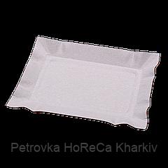 Тарелка бумажная прямоугольная 100шт/уп маленькая