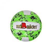 Мяч волейбольный  miBalon  (зелёный), диаметр 21 см