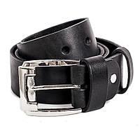 Мужской кожаный ремень R-01w (черный) (4 см) XXL, фото 1