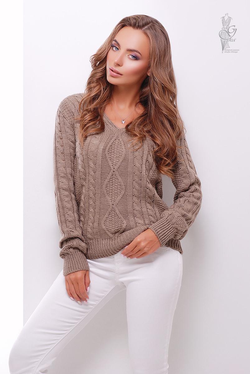 Вязаный женский свитер Белла-4 из шерсти и акрила