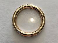 Кольцо-карабин золото 30 мм