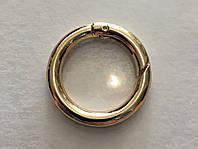 Кольцо-карабин золото-лайт 25 мм