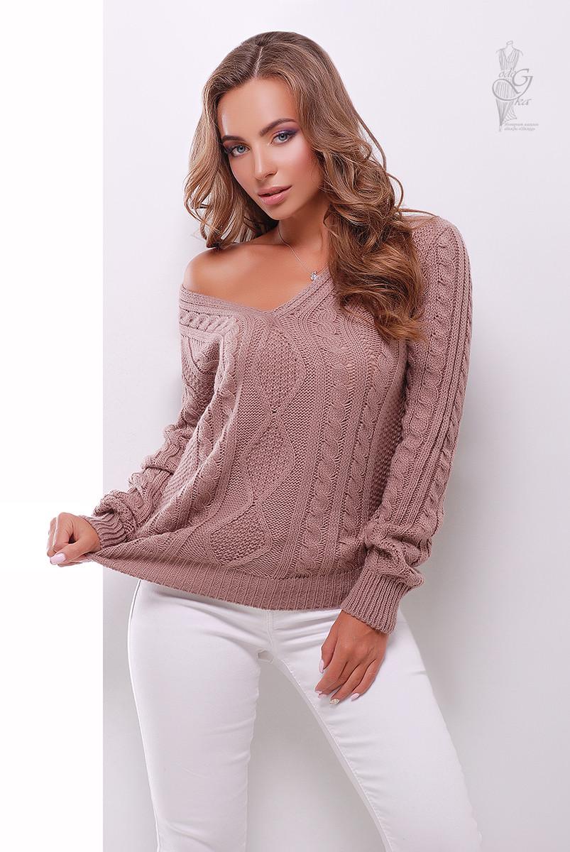 Вязаный женский свитер Белла-11 из шерсти и акрила