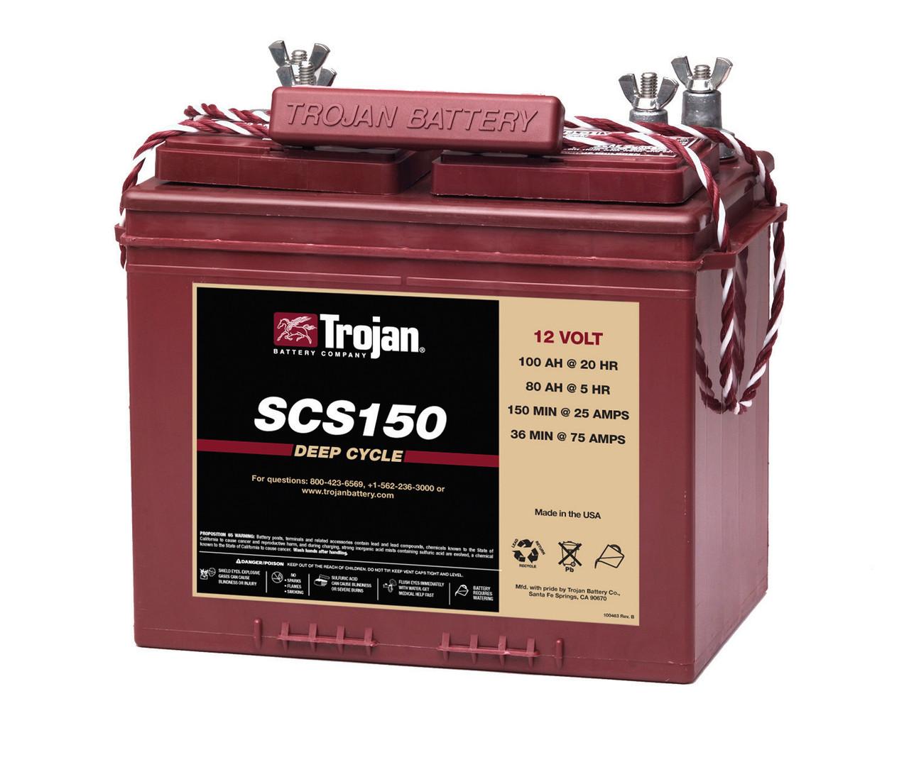 Аккумулятор - 100 Ач, 12В TROJAN SCS150 - свинцово-кислотный