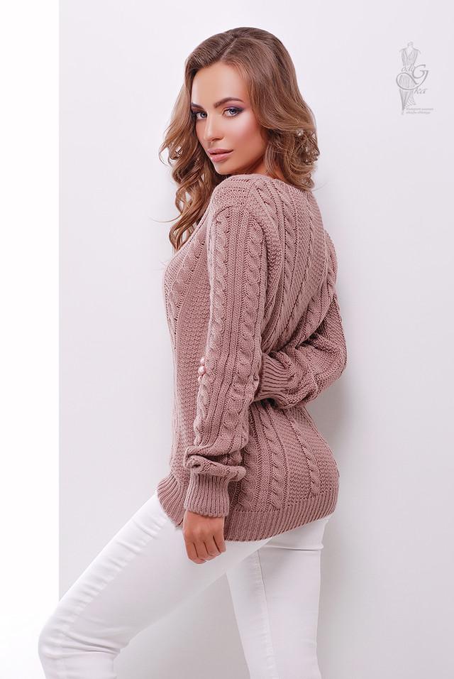 Фото Вязаного женского свитера Белла-11