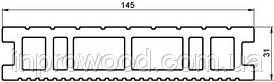Терасна дошка ДПК TArdeX Classic Home 145 х 31 х 2200 мм