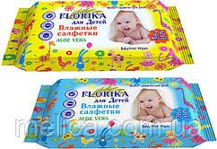 Влажные салфетки для детей Florika Aloe Vera - 15 шт.