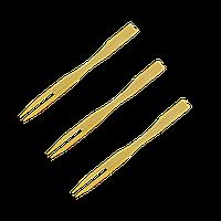 Шпажка деревянная вилочка из бамбука 9см. 100шт/уп