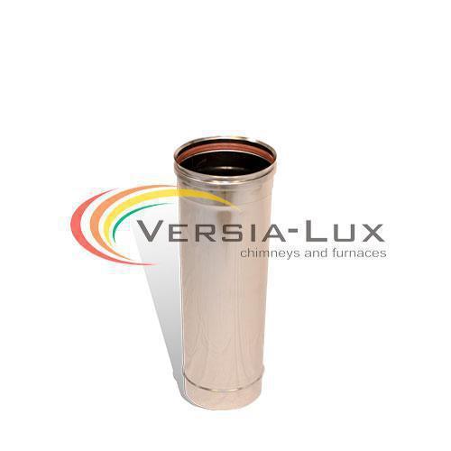 Труба дымохода L=0,3м D=160см 0,8мм из нержавеющий стали Версия Люкс (Украина)