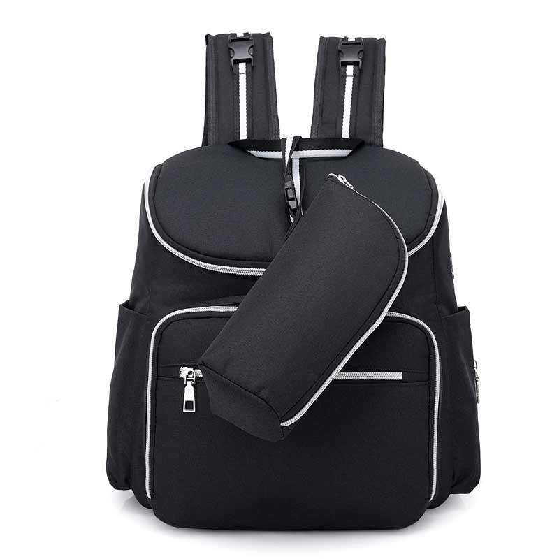 8173d1eccf02 Рюкзак с USB портом и термосумкой для мамы, детских вещей, путешествий  (черный)
