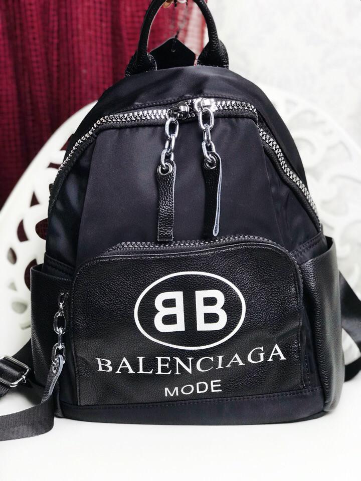 Рюкзак в стиле Balenciaga текстиль и кожа!