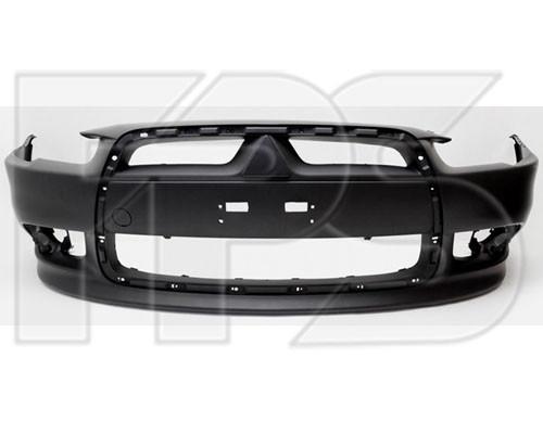 Передний бампер Mitsubishi Lancer X '12-, черный (FPS)