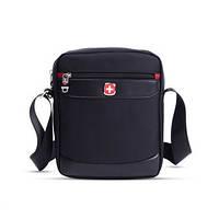 4c559afa2569 Стильная мужская сумка - барсетка фирмы Swissgear. Современный дизайн.  Декоративные вставки эко кожи.