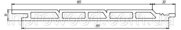 Фасадна дошка Tardex 191х16х2200