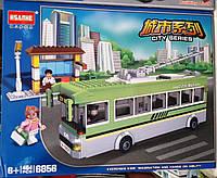 Конструктор HSANHE 6856 Троллейбус и остановка 464 детали, фото 1