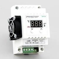 Терморегулятор цифровой симисторный на DIN-рейку (-40°...+110°, симистор 20А) РТУ-20/D-NTC