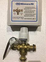 """Трехходовой термостатический смесительный клапан с термоголовкой Gross 1"""""""