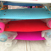 Скейт Пенни Борд (PennyBoard) со светящими колесами. 22 дюйма.