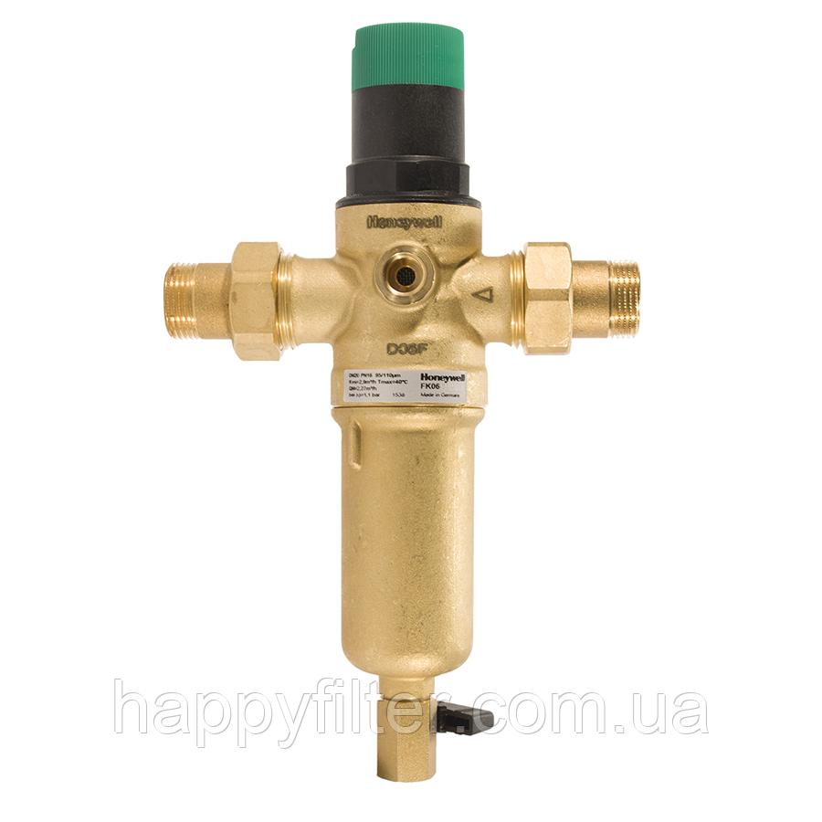 Фильтр Honeywell FK06-1/2AAM для горячей воды с редуктором давления