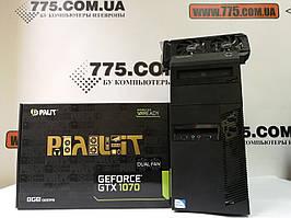 Игровой компьютер Intel Core i7 3.9GHz, RAM 16ГБ, SSD 240ГБ, HDD 500ГБ, GF GTX 1070 8ГБ, гарантия 6мес на ПК