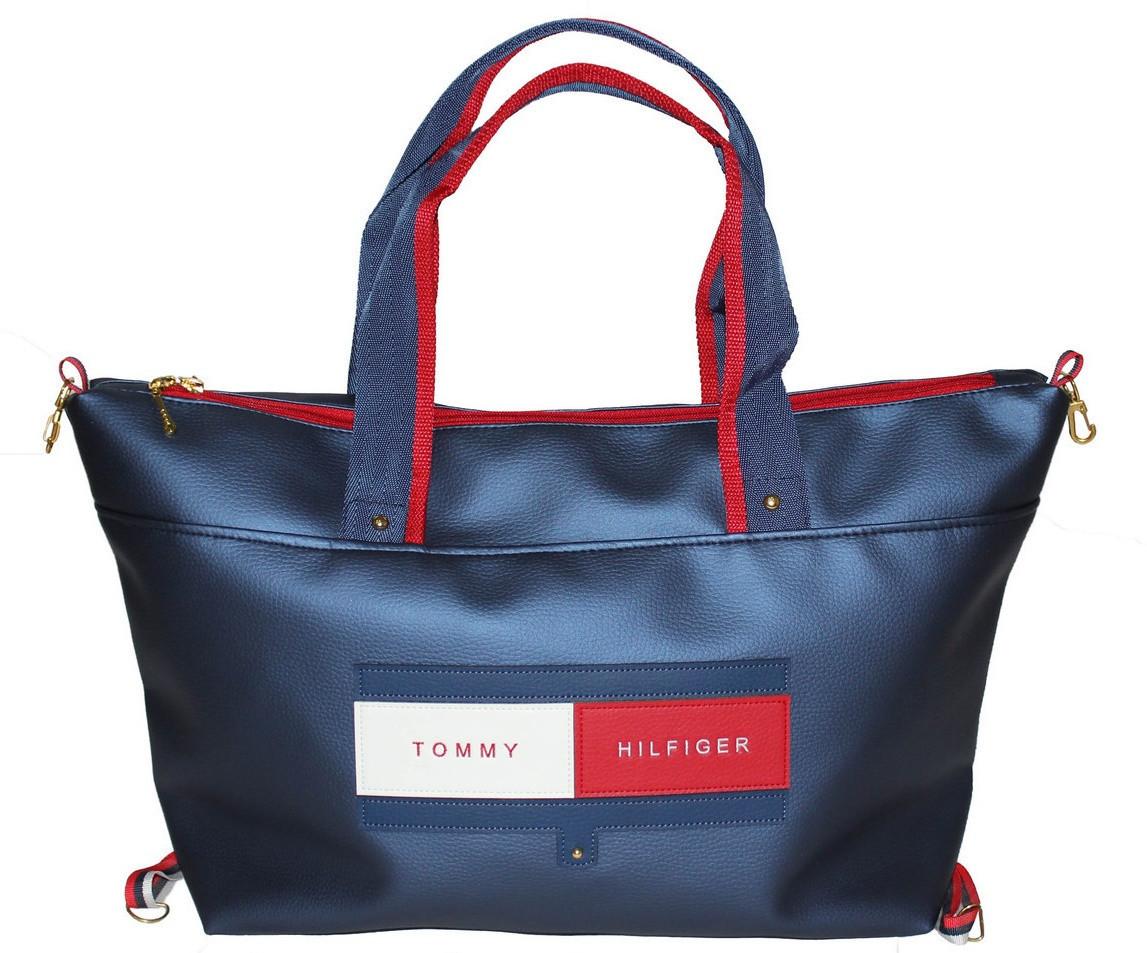 298e9b3bb367 Изящная спортивная сумка Хелфигер для активных девушек, синяя - Newmen в  Одессе