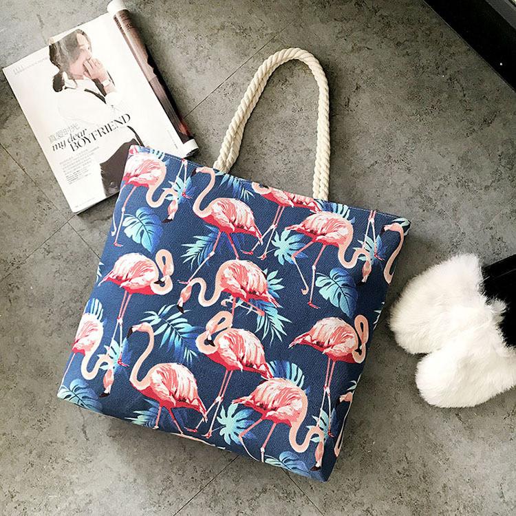 2f4ca8acebb0 Женская летняя пляжная сумка Flamingo синего цвета: продажа, цена в ...