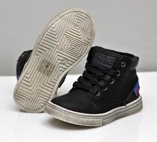 Демисезонные ботинки для мальчика черные