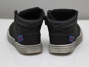 Детские демисезонные ботинки для мальчика 24р. черные , фото 2